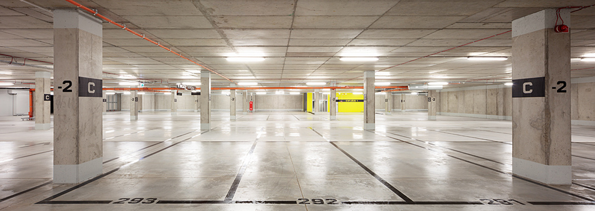 ch+ underground parking, centennial hall site