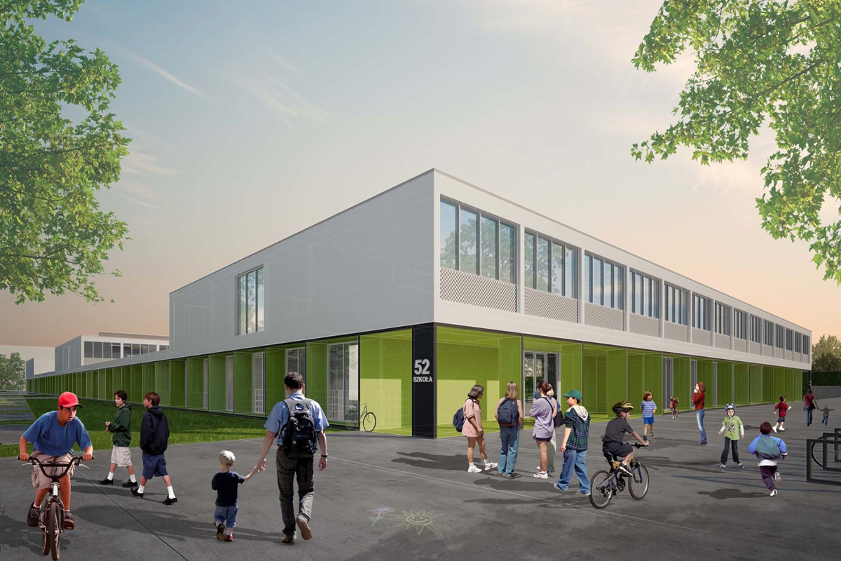 ch+ school in wroclaw – competition (3rd prize)